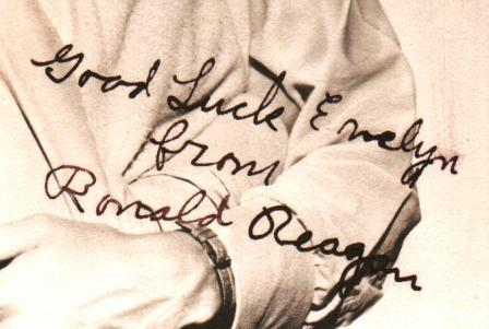 Vintage Photograph Signed by Ronal Reagan 1940s