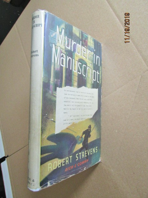 Murder in Manuscript First Edition in Original Dustjacket