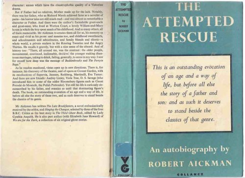 The Attempted Rescue An Autobiography -by Robert Aickman