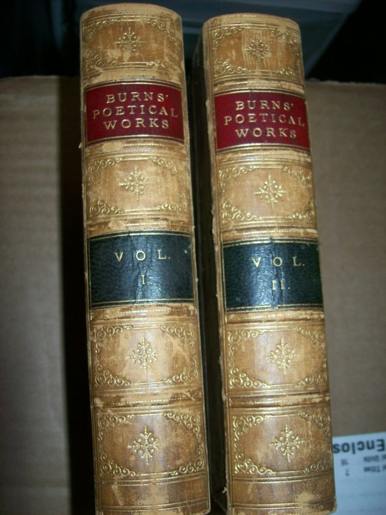 The Poetical Works of Robert Burns Two Volume set