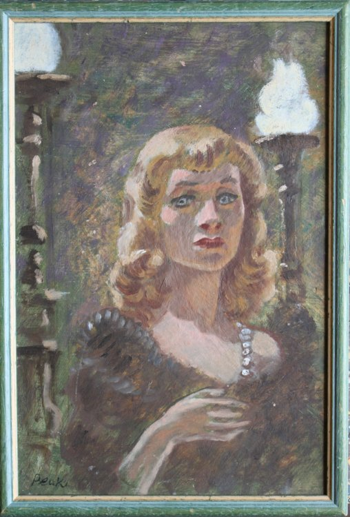 Portrait of Vivien Leigh as Blanche Dubois in a Streetcar Named Desire. Original oil painting.