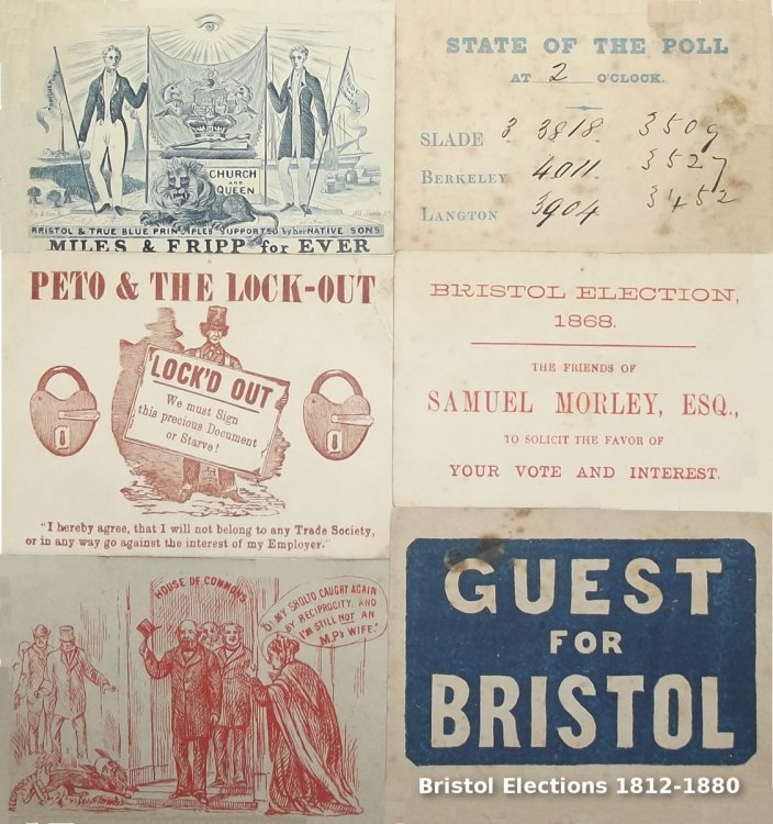 Bristol Election Ephemera 1812 - 1880.