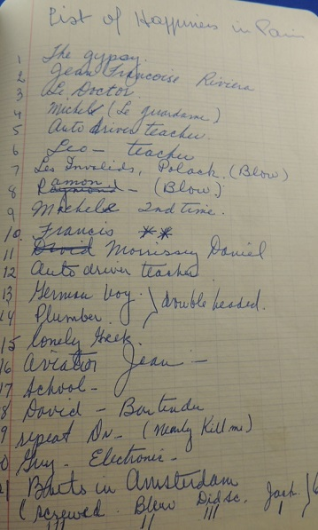 1969 ORIGINAL MANUSCRIPT TRAVEL DIARY HANDWRITTEN BY ONE OF SAN FRANCISCOS MOST FAMOUS POLITICIANS RESTAURANTEURS PHILANTHROPISTS AND DRAG QUEENS KNOWN AS THE GRAND MERE AND THE ABSOLUTE EMPRESS I OF SAN FRANCISCO