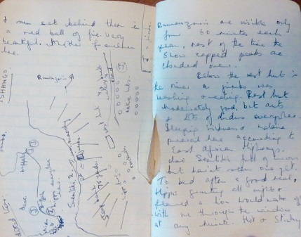 1951 - 1952 ORIGINAL MANUSCRIPT TRAVEL DIARY OF A 10000 MILE EPIC JOURNEY BY TRUCK FROM EUROPE TO SOUTH AFRICA HANDWRITTEN BY A 17 YEAR OLD GIRL MAKING THE TRANS CONTINENTAL TREK WITH HER 20 YEAR OLD BROTHER