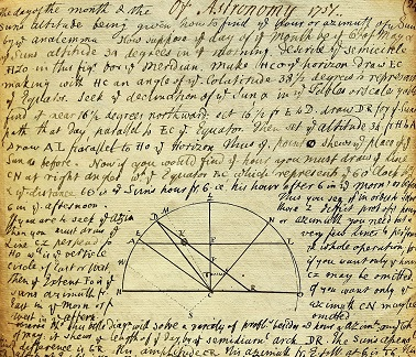 1751 ORIGINAL SUPERB MANUSCRIPT BOOK OF GEOGRAPHY ASTRONOMY AND NAVIGATIONAL WISDOM AT THE THEN APEX OF SCHOLARLY KNOWLEDGE DURING THE AGE OF SAIL
