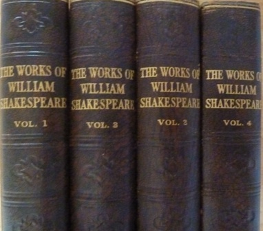 The Complete Works of William Shakespeare in 4 volumes