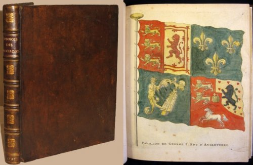 [La Connoissance des Pavillons ou Bannieres, que la plpart des nations arborent en mer.] with 90 Hand-Colored Plates