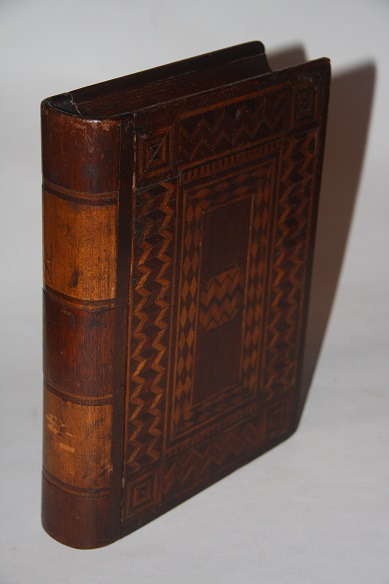 [Faux Book] Box with Intricate Marquetry Inlay Work