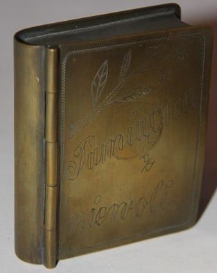 Faux Book World War One Trench Art Brass Box