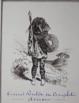 Album of Caricature and Satirical Drawings most of which is entitled From Punchs Book of Ancient British Costumes