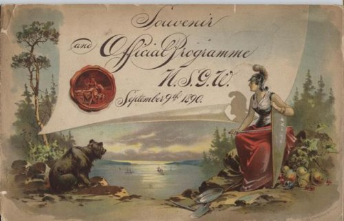 Official Programme and Souvenir Native Sons of the Golden West. Ninth September Meeting San Francisco 1890.