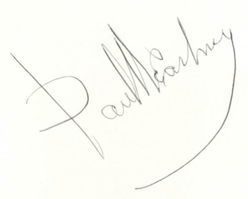Beatles on Broadway SIGNED Paul McCartney 1964 TWICE