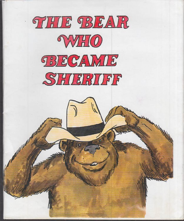 Cartoonist Frank Bolle ORIGINAL The Bear Who Became Sheriff dummy 1990s
