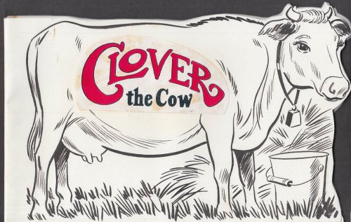 Cartoonist Frank Bolle ORIGINAL Clover the Cow TWO variant dummies 1990s