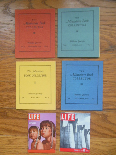 The Miniature Book Collector Volume I Nos. 1-2-3-4 Plus Two Miniature Life Magazines 1960