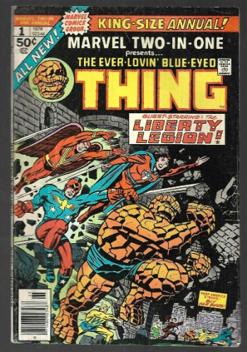 Marvel Two-in-One King-size annual #1; presents the ever lovin' blue-eyed Thing.