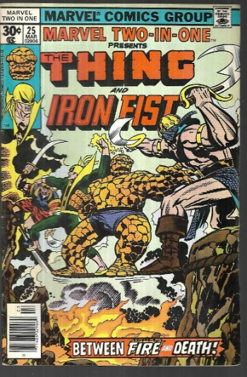 Marvel two-in-one 25Thing and Iron Fist