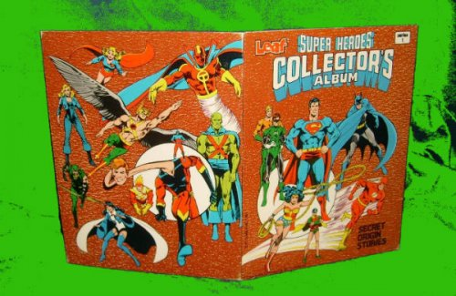 SUPER HEROES COLLECTORS ALBUM LEAF 1981 SUPERMAN WONDER WOMAN BATMAN FLASH