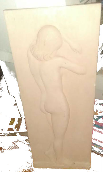 Stone relief of nude