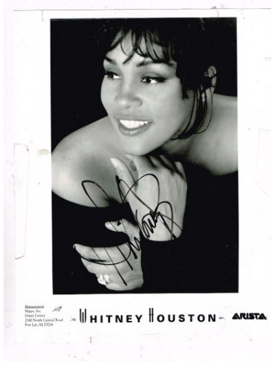 Whitney Houston autograph, signed photo 8