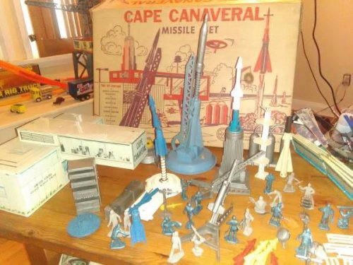 Playset-Project Mercury Cape Canaveral-Marx-Boxed-1950s