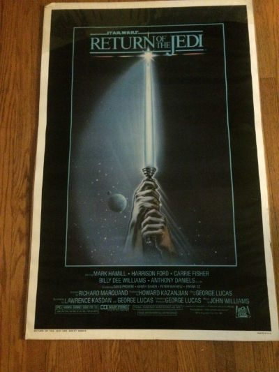 Star Wars Return Of the Jedi Orignal Rolled One Sheet Style A 27X41 Estate