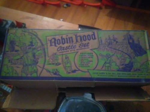 127 1956 Marx Robin Hood Castle Play Set