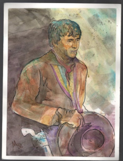 Scotty Phillips:Original Watercolour Henry Darrow from,