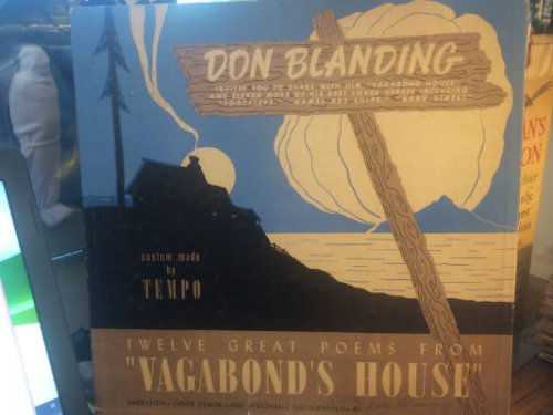 Don Blanding 8206 Twelve Great Poems From Vagabond Housesigned Label Tempo Record Company Of America 8206 TT 2200