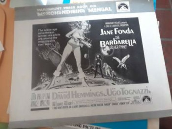 paramount press book and merchandising manual;Jane Fonda in barbarella