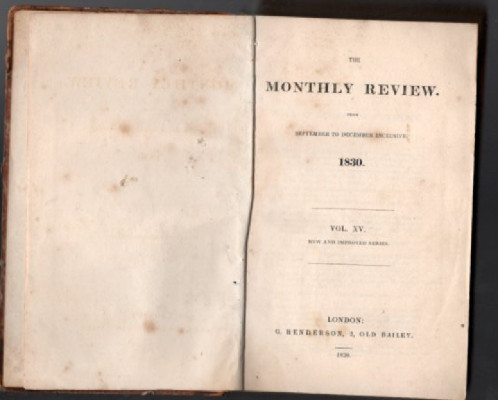 Monthly Review:1830:Vol.15,Sept. to Dec.