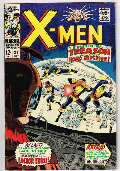 UNCANNY X-MEN #37 1967 VOLUME 1 MARVEL