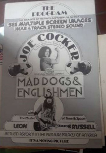 Joe Cocker Leon Russell The program for Mad dogs and Englishmen