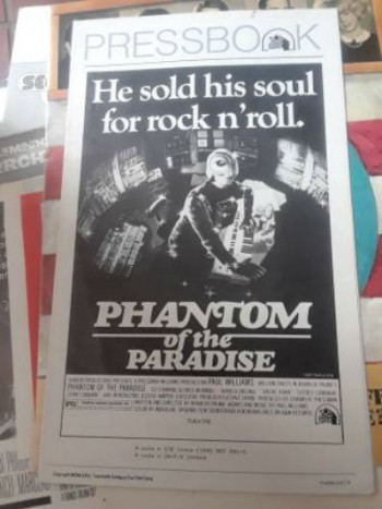 Phantom of the Paradise:Pressbook 1974