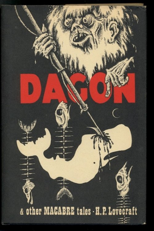 DAGON & Other Macabre tales. Arkham House, Sauk City, 1965. [First Edition defined by thirteen alternating headbands].