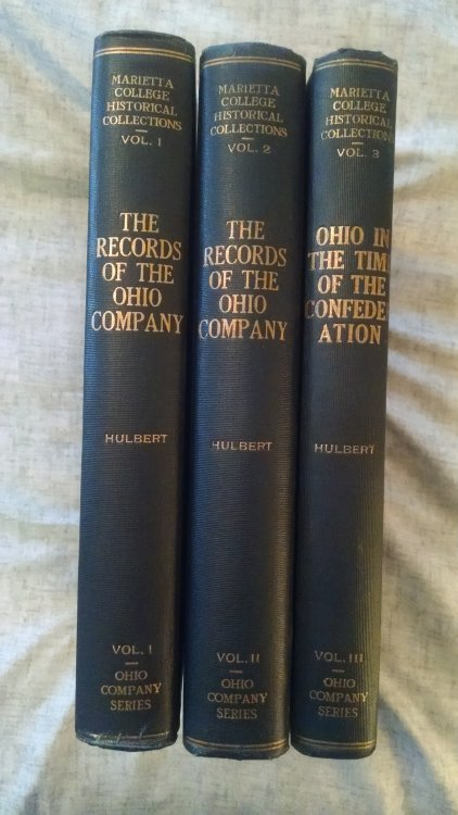 THE RECORDS OF THE ORIGINAL PROCEEDINGS OF THE OHIO COMPANY VOLS. 1,2,3