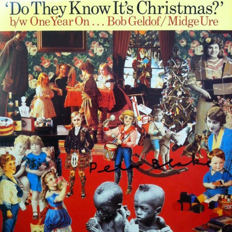 Do They Know Its Christmas Peter Blake AUTOGRAPHED