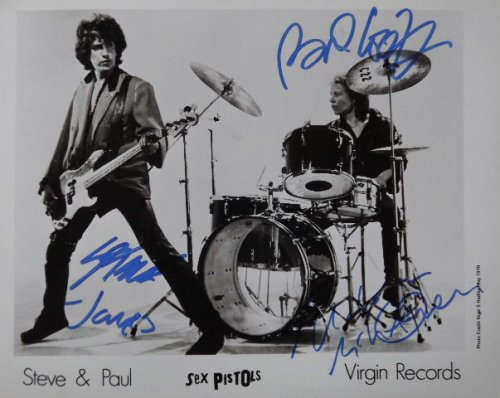 MULTI SIGNED Sex Pistols Autographed Photograph PROMO ONLY