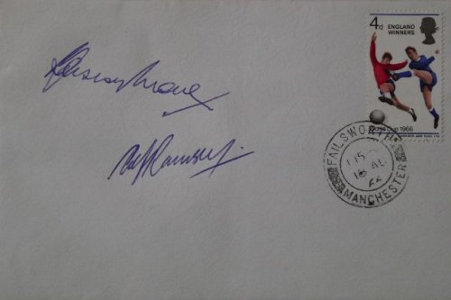 Bobby Moore Alf Ramsey Signed Envelope