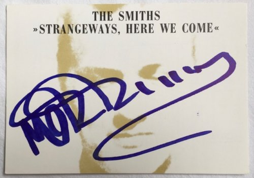 Strangeways Here We Come MORRISSEY SIGNED PROMO POSTCARD