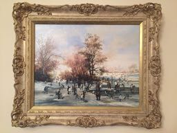 A Winter Day in The Park ORIGINAL BRAAQ OIL PAINTING