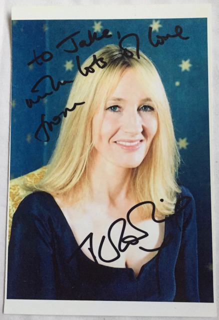 J K Rowling Signed Photograph