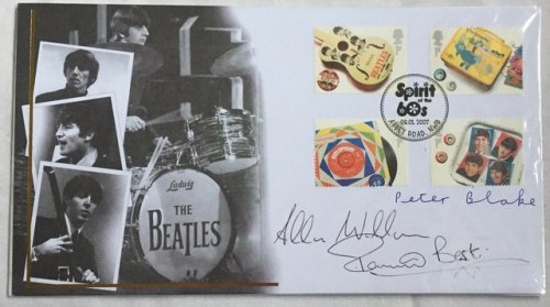 The Beatles Multi Signed First Day Cover