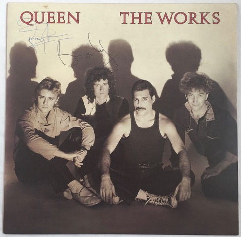 The Works DOUBLE SIGNED vinyl LP