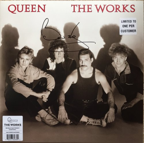 The Works SIGNED COLOURED VINYL LP