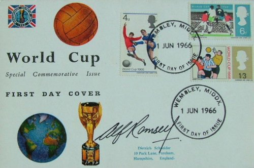 Alf Ramsey Signed First Day Cover